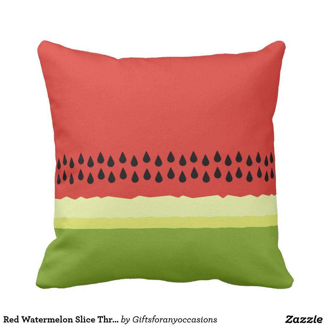 Rotes Wassermelone Scheibe Wurfs Kissen Kissen Kissen Decken