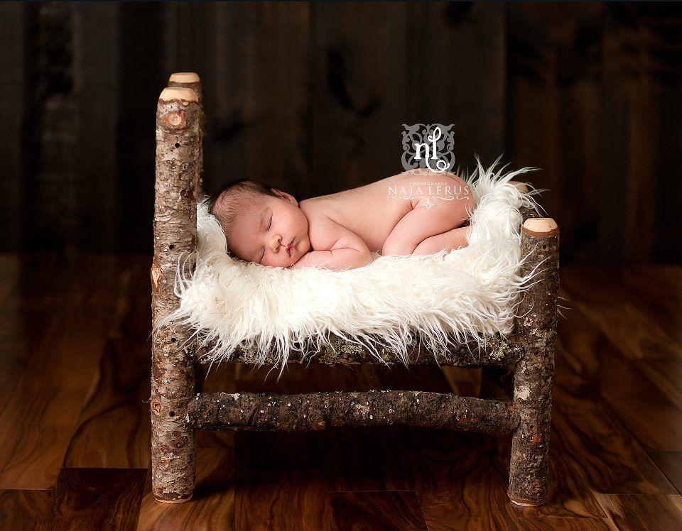Image of oregon grown douglas fir newborn prop bed