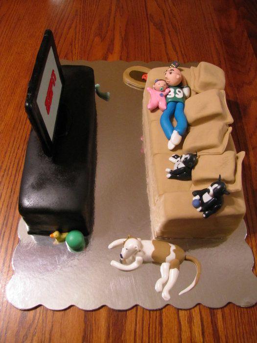 Just Laying Around Cake Hubby Birthday Cake For Husband Birthday Cake For Husband