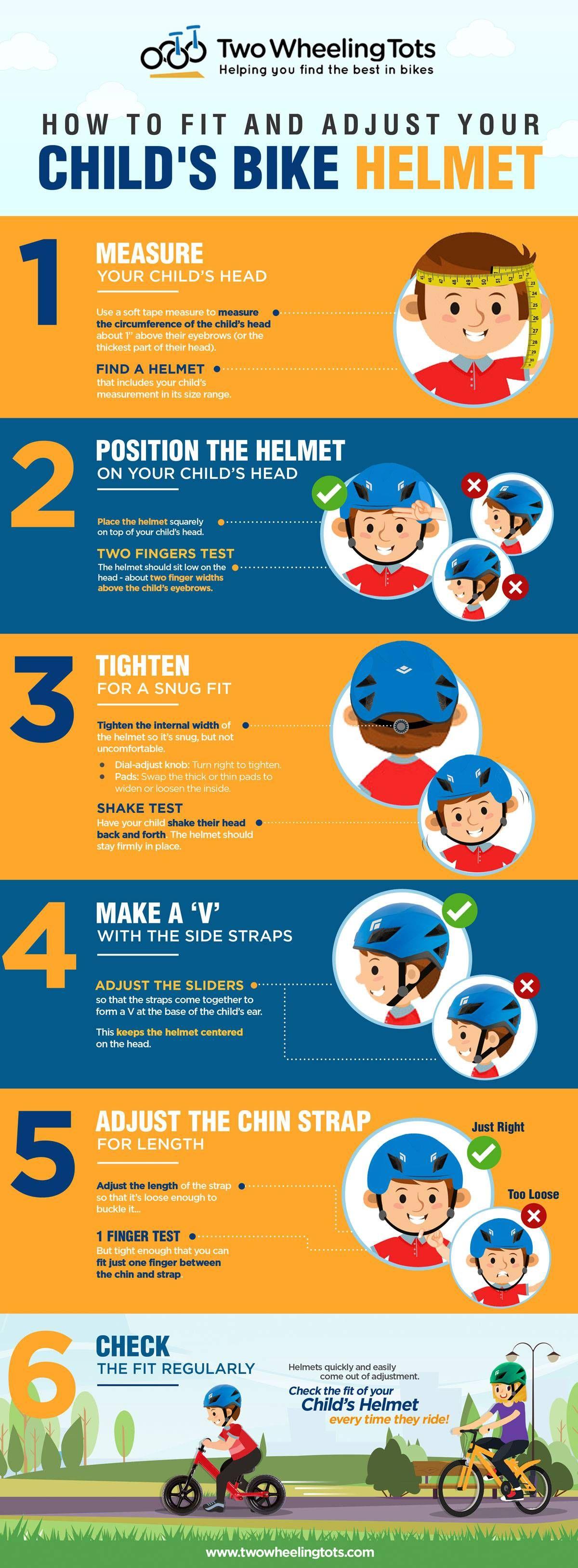 How to Fit & Adjust Your Child's Bike Helmet Kids bike