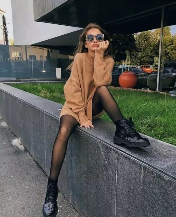 Wie man ein Pulloverkleid trägt: 6 coole Outfit-Ideen #coole # Ideas #outfit #p