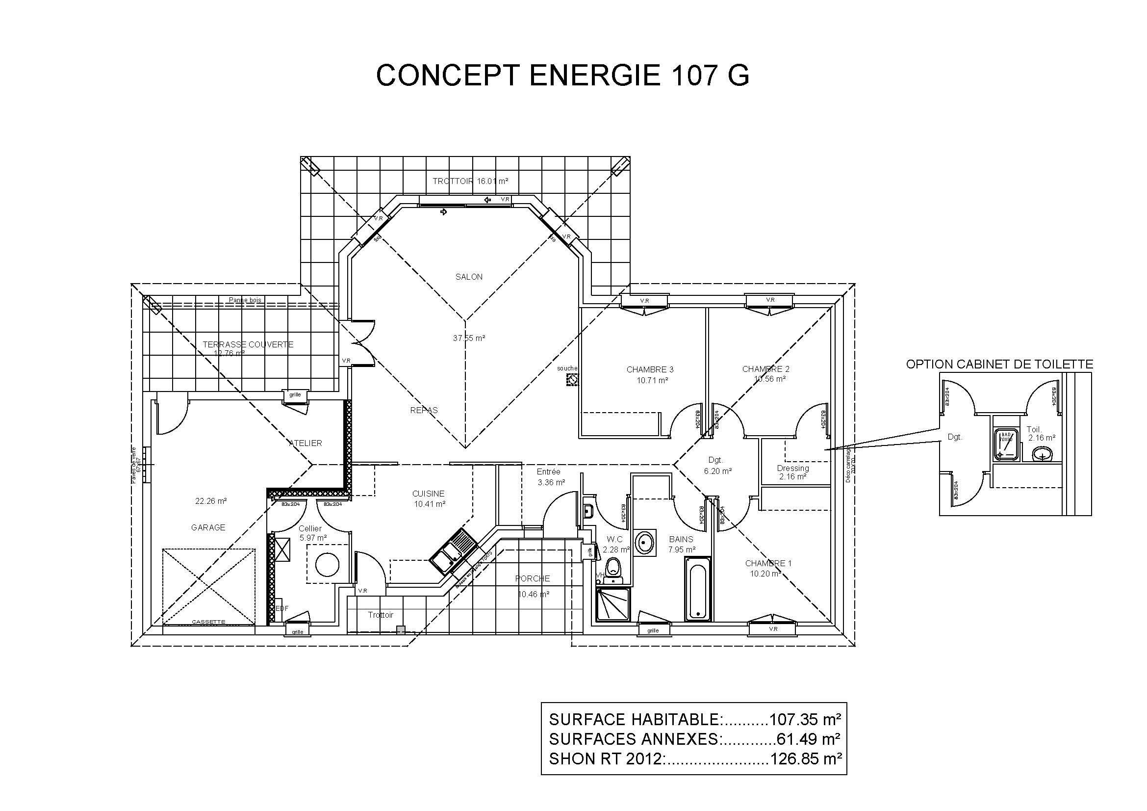 Modèles Et Plans De Maisons U003e Modèle De Plain Pied Concept Energie.  Constructions Demeures