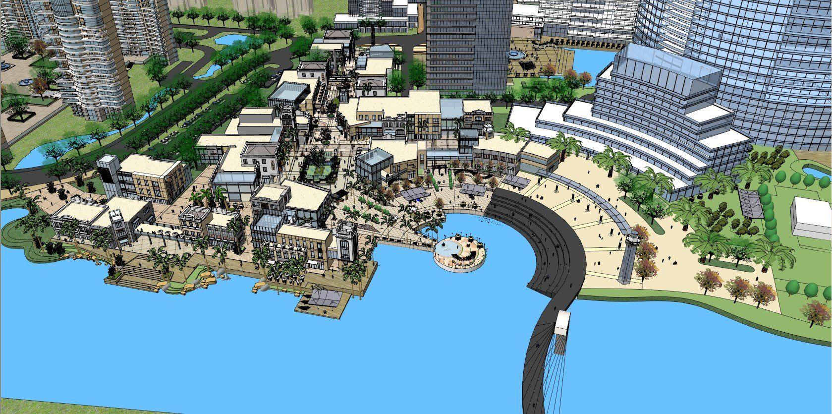 ☆Sketchup 3D Models-Large Scale City Sketchup Models