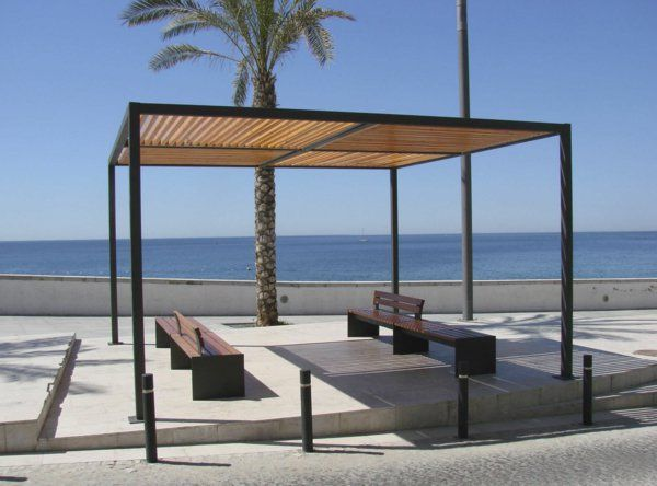 pergola aus metall 40 inspirierende beispiele und ideen am nagement ext rieur terrasses et. Black Bedroom Furniture Sets. Home Design Ideas