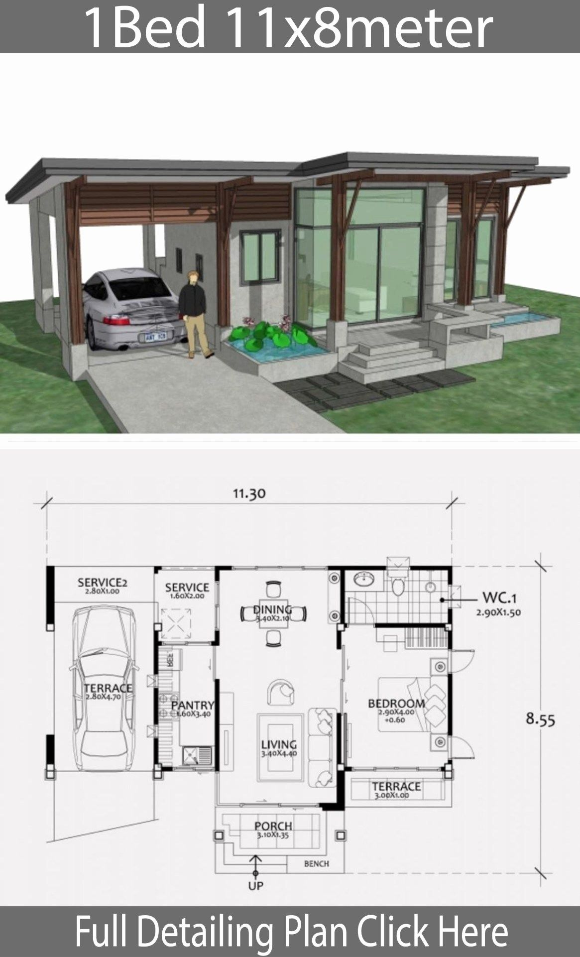 12 Small One Bedroom House Plans Homify Best In 2020 Home Design Plan House Plans One Bedroom House