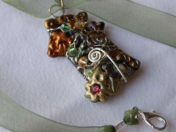 Fantasy Pendant Abstract Silver Filler Wire by KreativeKimKards, €12.00