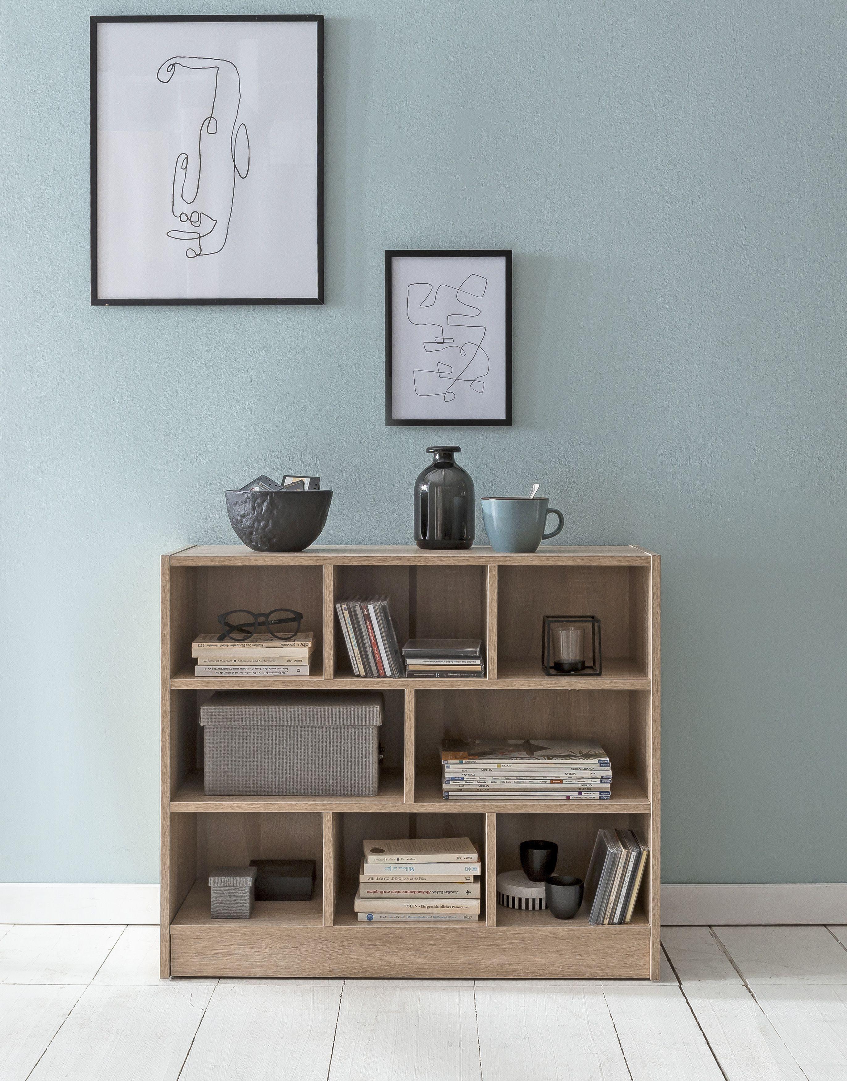 Regal Wohnzimmer Offen  Bücherregal weiss, Bücherschrank, Bücherregal