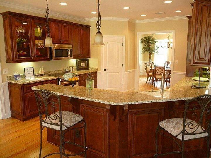 Cherry wood cabinets. | Cherry wood cabinets, Kitchen, New ...