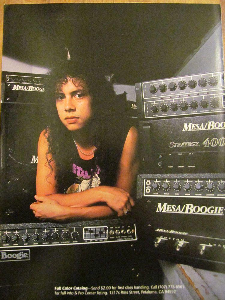 Metallica Kirk Hammett Mesa Boogie Amplifiers Full Page Promotional Ad Metallica Kirk Hammett Soul Music