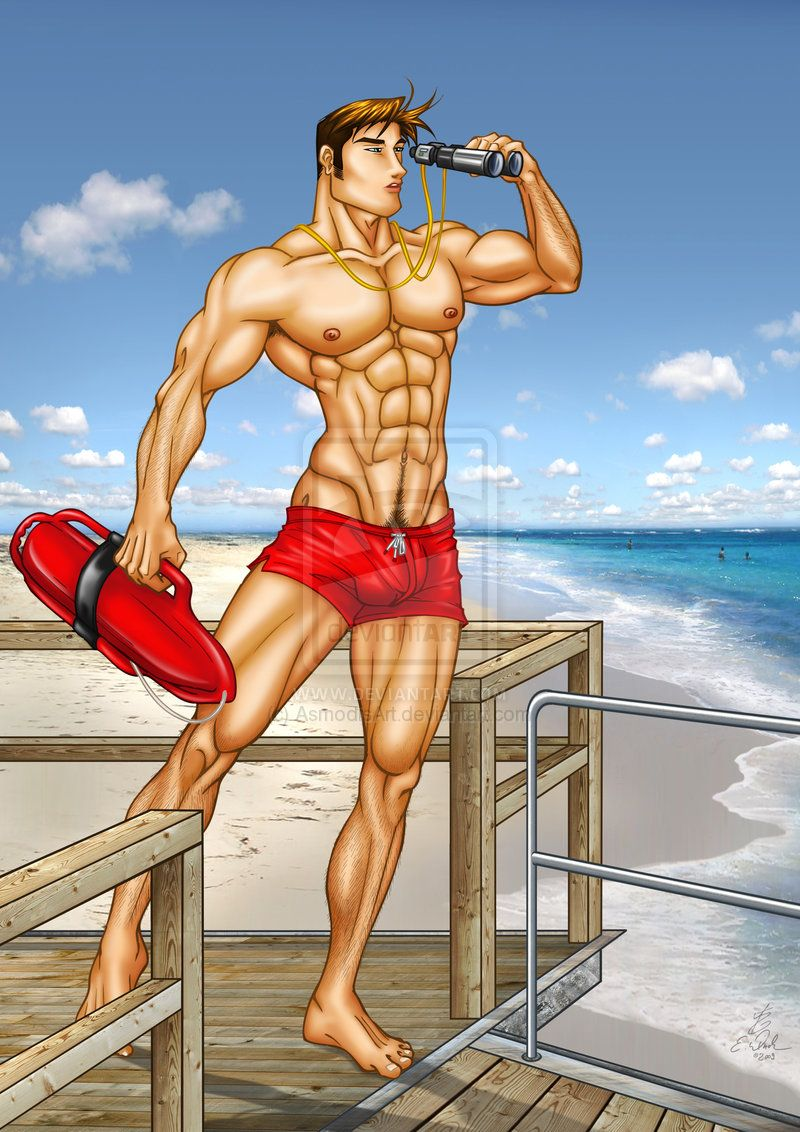 Sexy lifeguard cartoons