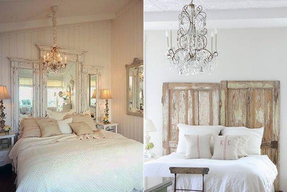 bett rückwand selber machen aus alten holzfensterrahmen als coole - dekoration schlafzimmer selber machen