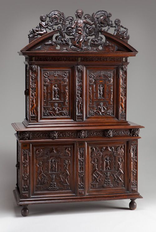 French Or Italian 16th Century Period Of Francis I R 1515 1547 Two Part Cabinet Renaissance Furniture Ornate Furniture Carved Furniture