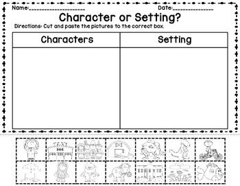 Character Setting Sort and Graphic Organizers | Graphic organizers ...