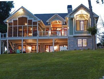 Screened Porch Walkout Basement Mountain House Plans Lake