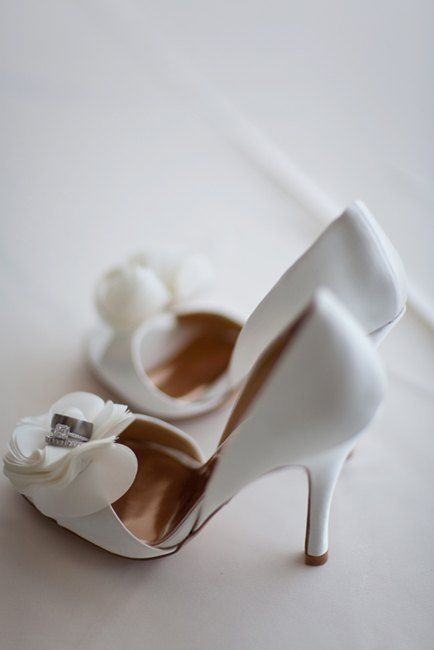 Badgley Mischka beauties! Urban Rooftop Glam Wedding planned by http://atfirstblushandco.com Photo by http://scottlawrencestudios.com