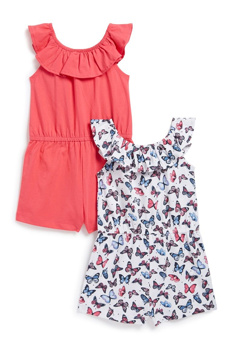 4ccd377d112a Primark - Younger Girl Playsuit 2Pk | Baby | Girls playsuit, Kids ...
