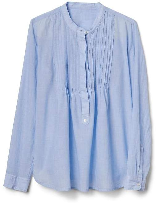 34028f169afe9 Popover pintuck shirt in end-on-end stripe from GAP now on sale. Afflink.