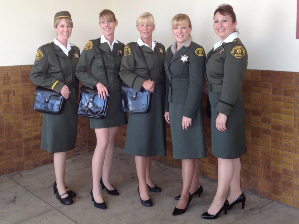 Lasd Female Deputy Uniforms From 1972 Worn 40 Years Later At The 100th Anniversary Of Female L Military Dress Uniform Armed Forces United States Armed Forces