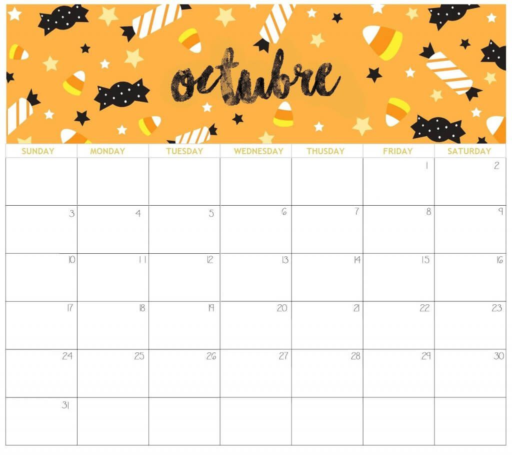 Cute October 2021 Calendar In 2020 Cute Calendar 2021 Calendar Calendar