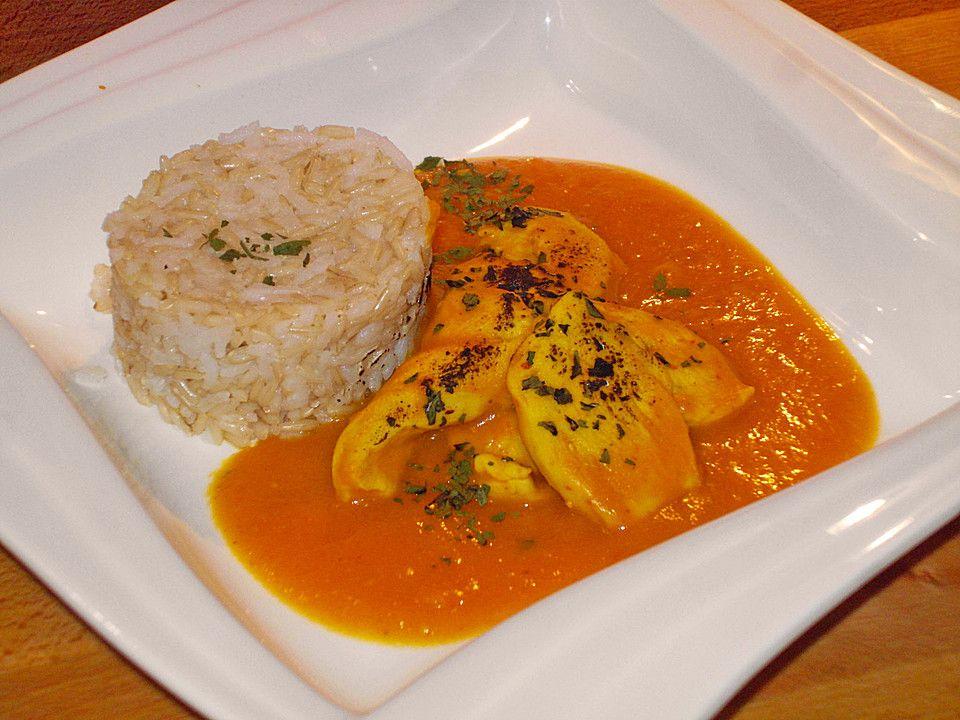 Hähnchenbrust in Kürbis-Curry-Sauce