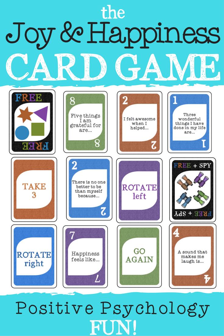 Joy Happiness Card Game Positive Psychology School