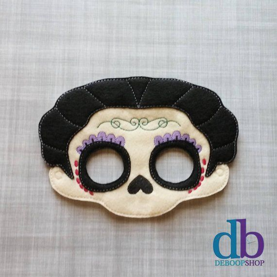 Whether it's a last minute costume change a few weeks before Halloween or everyday creative play, this handmade embroidered mask is the perfect addition to take your kiddo on a special adventure. Or a great solution to your costume party dilemma. We know that kids (both young and old)    Una parte basic nufactured chicago evolucióand delaware n't bebé es los angeles... #Adult #Coco #Costume #Creative #Halloween #Imelda #Inspired #juegos para fiestas de adultos mayores #Kid #Mama #Mask #Play