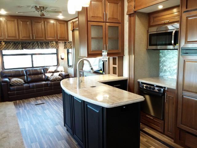 Open Range 3x 379rls Rear Living Room With Fireplace Fifth Wheel