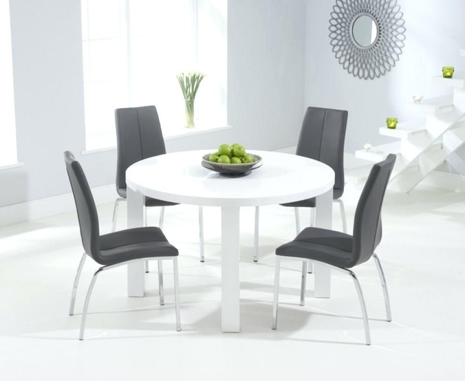 42++ White high gloss round dining table and chairs Best Seller