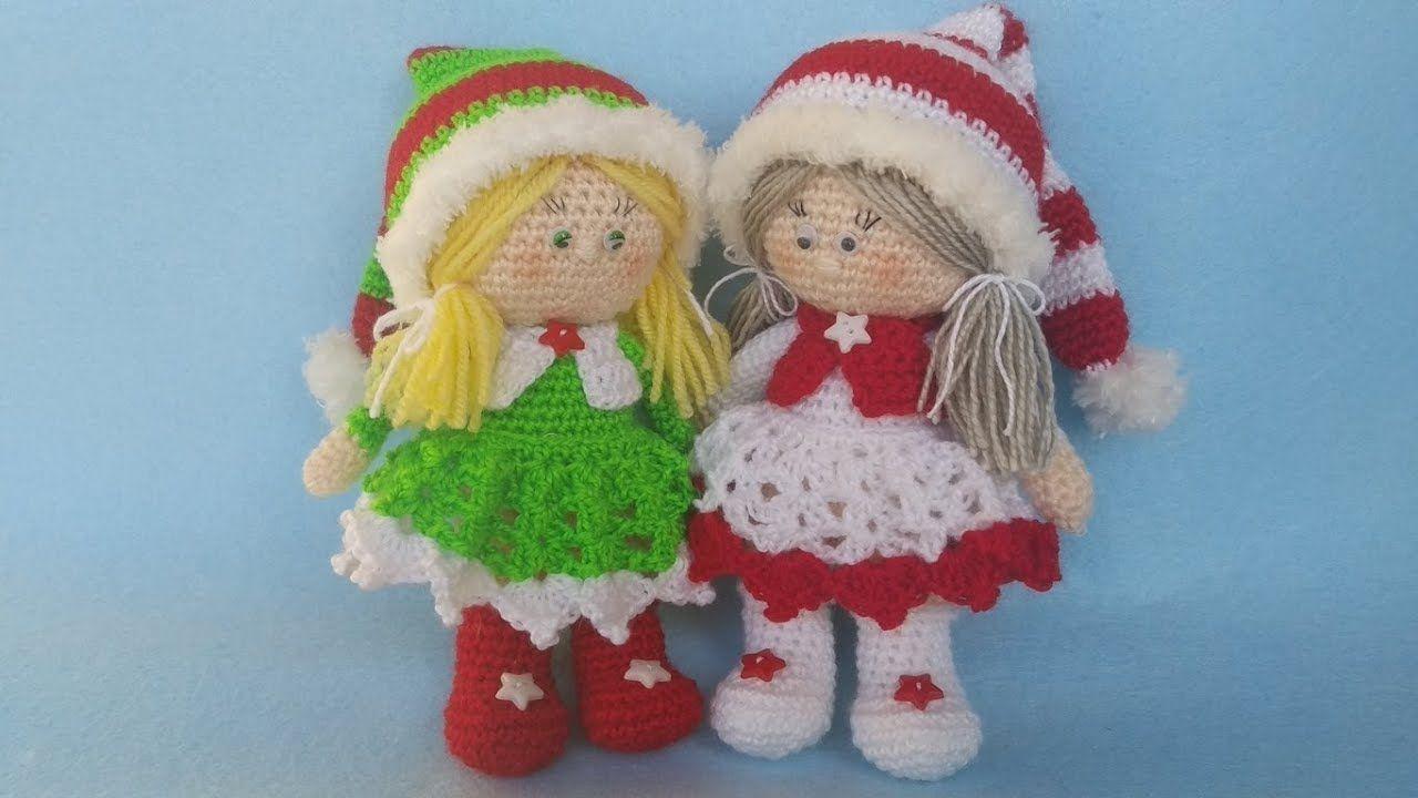 Amigurumi Natale.Bambola Amigurumi Natale Uncinetto Muneca Crochet Navidad Doll Croch Christmas Crochet Crochet Doll Tutorial Crochet Doll Pattern