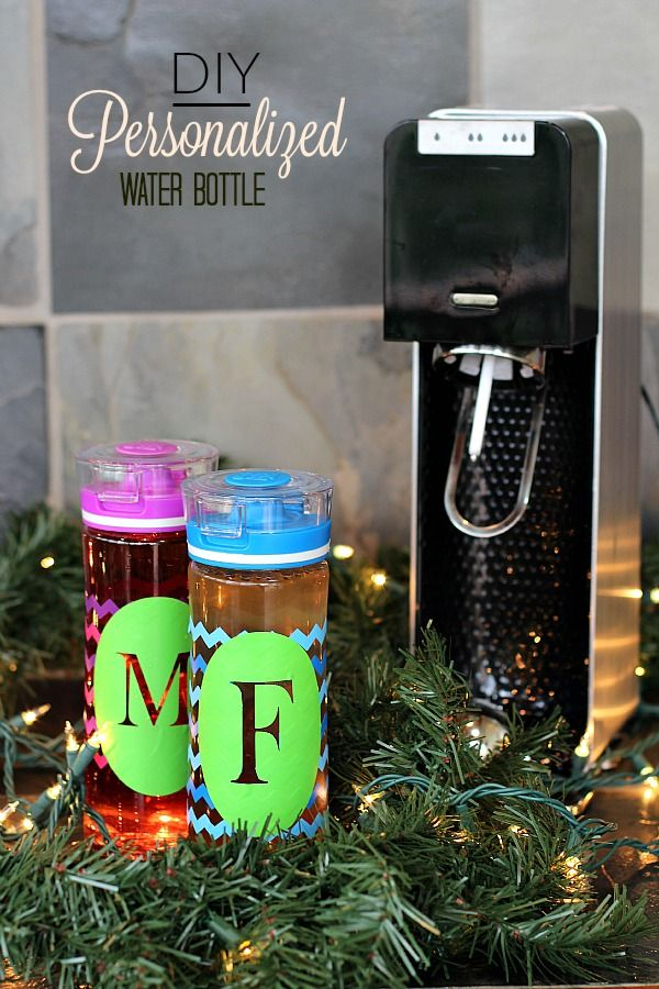 Personalized Water Bottle Tutorial The Adventures Of J Man And Millerbug Personalized Water Bottles Diy Diy Water Bottle Student Christmas Gifts