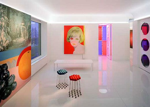 Colorful Interior Modern And Elegant Design With Art Wall Decoration Retro Style Still