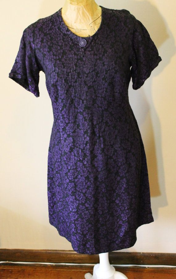 1960s purple and black brocade cocktail by vintageunderthirty ...
