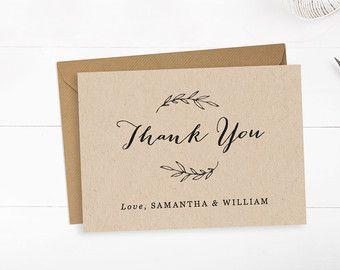printable wedding thank you card template editable text and color