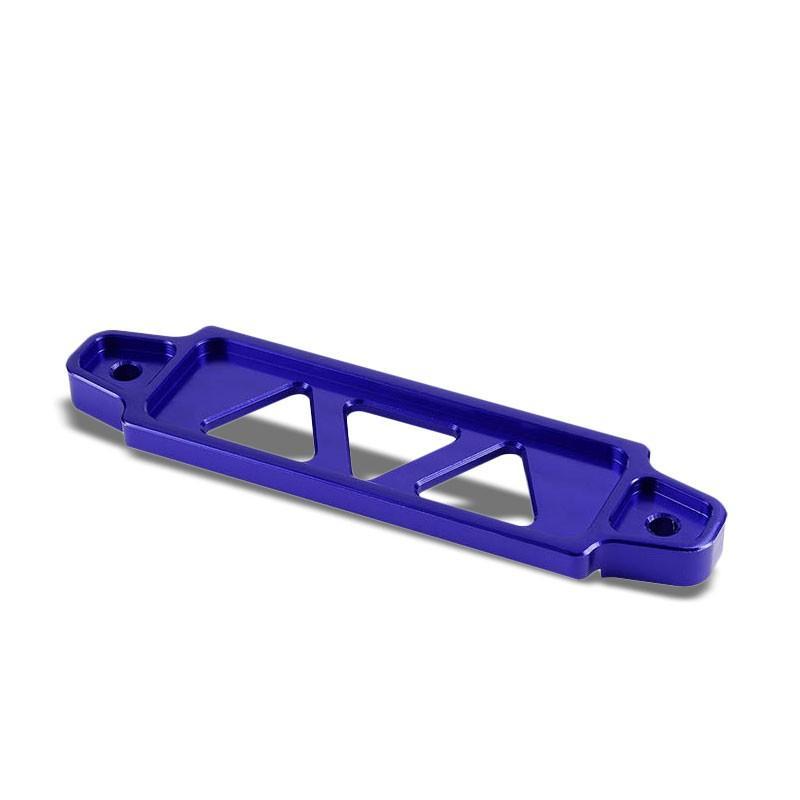 190MM//220MM Blue Billet Aluminum Car Battery Tie Down Mount Bracket Long Bar