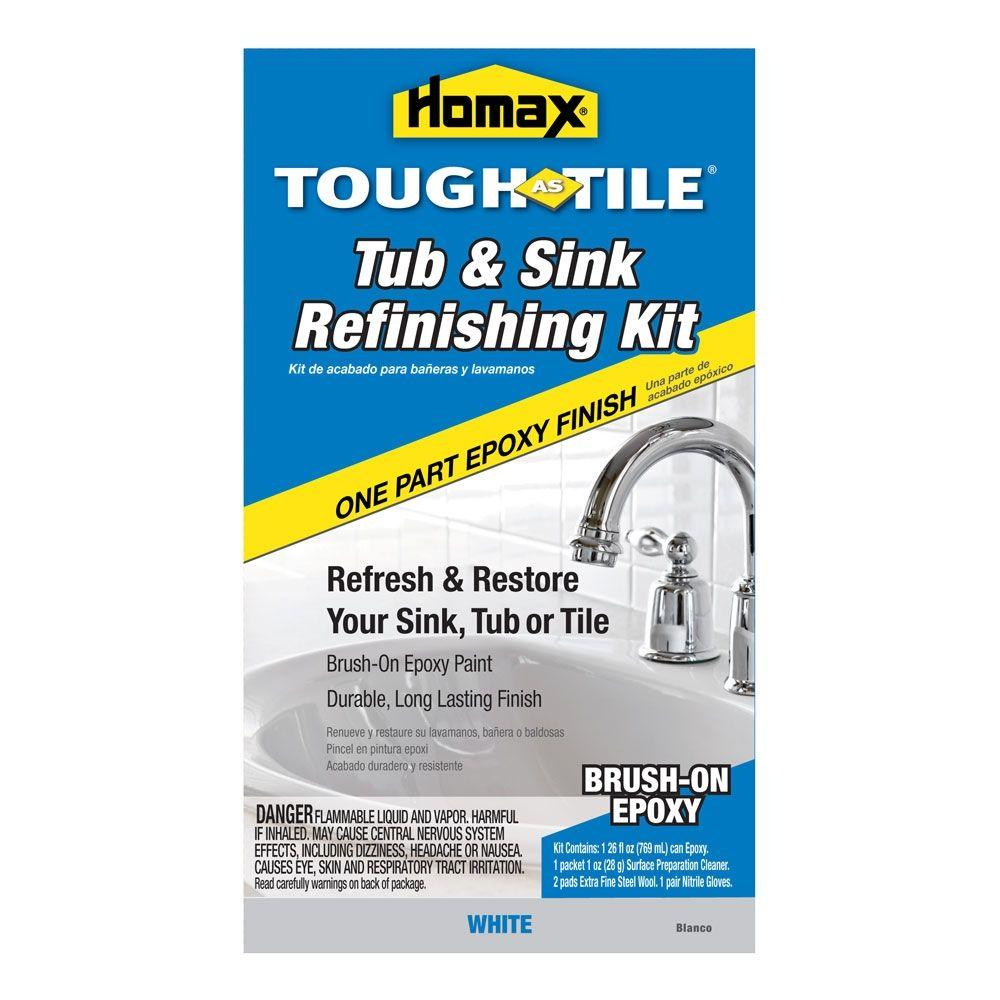 Homax 26 Oz White Tough As Tile One Part Epoxy Brush On Kit 2106