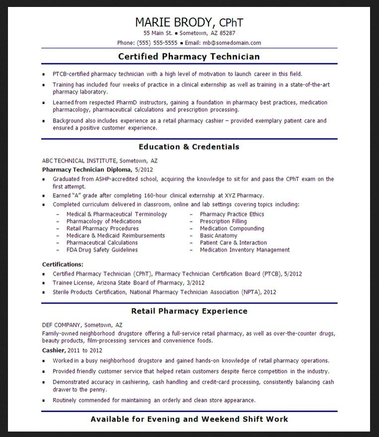 3 resume for entry level pharmacy technician httpresumesdesigncom - Entry Level Pharmacy Technician Resume