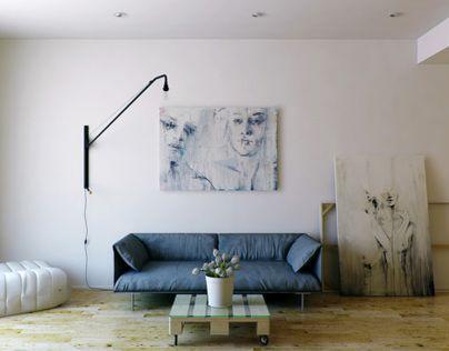 Wood&White. Интерьер этой маленькой квартиры «одет» в белый цвет и теплую светлую древесину. Я стремился создать просторное воздушное жилище, границы которого растворяются в цвете и эргономичных формах. Подход к формированию мебели и декоративному оформле…