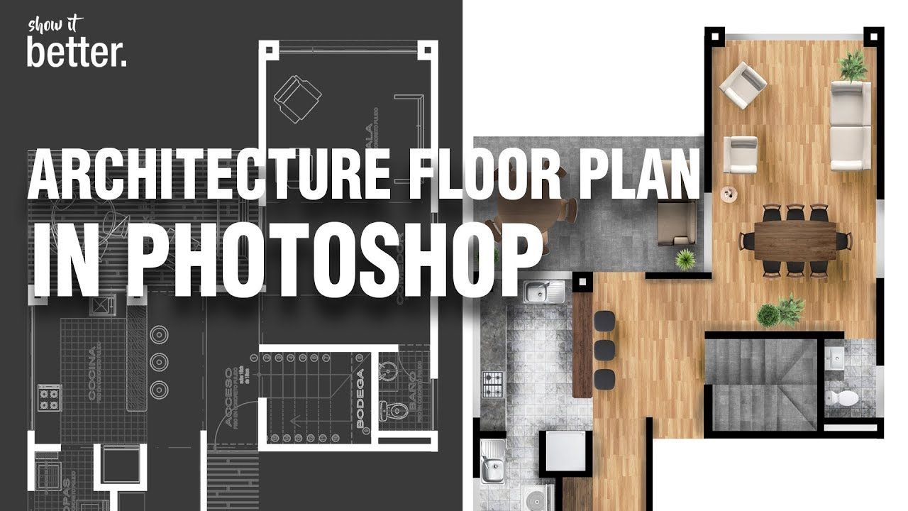 Architecture Floor Plan In Photoshop Architecture Photoshop Floor Plans