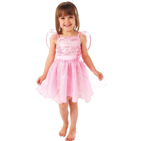 Pink Fairy Fancy Dress Costume Child Girl s Party Outfit With Wings ...