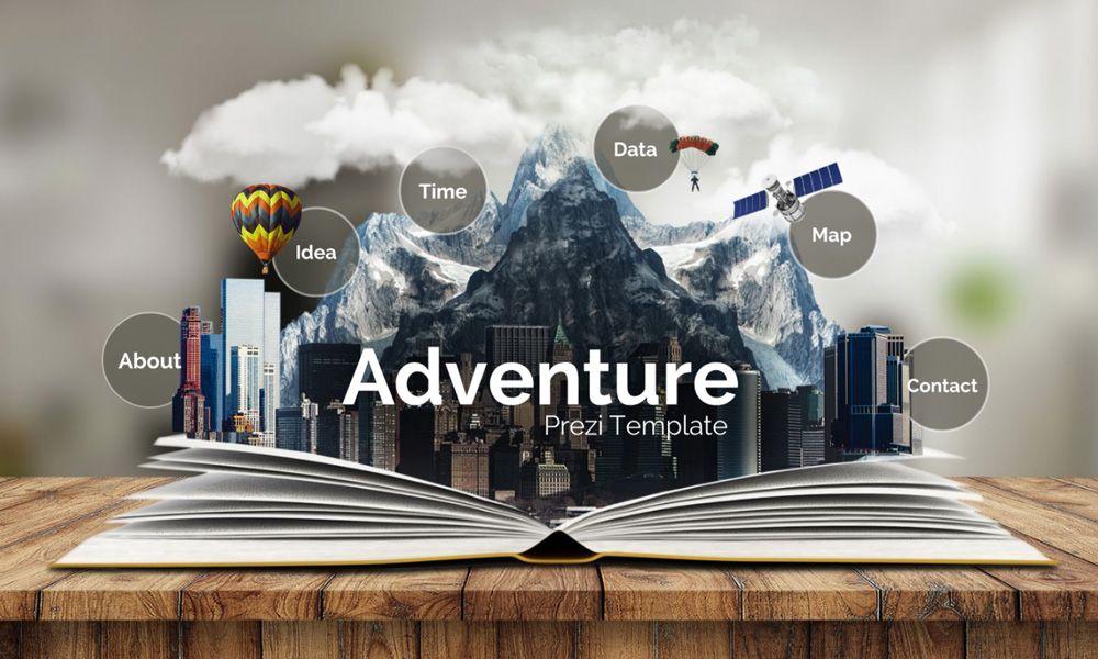3d adventure flipbook urban city concept education prezi next