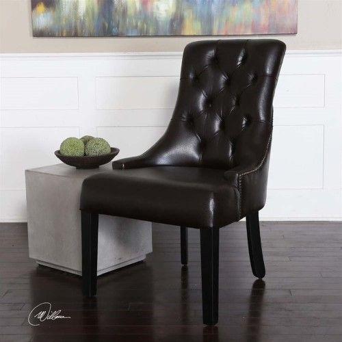 Dark Tobacco Accent Chair By Target: Uttermost Chatten Dark Tobacco (Black) Accent Chair