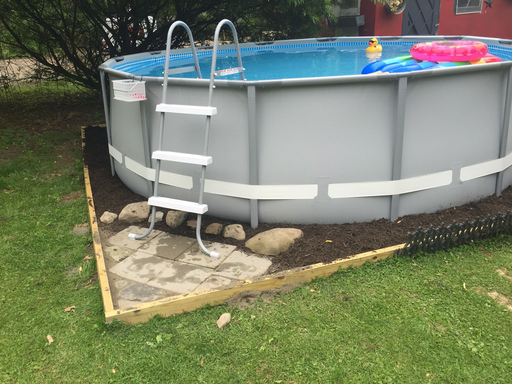 did a little landscaping around our 14x42 intex ultra frame pool pool in 2018 pinterest