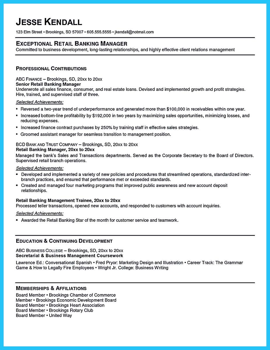 Head Teller Resume Banking Resume Examples Are Helpful Matters To Refer As You Are