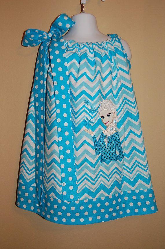 Cute Chevron Pillowcase dress with Elsa by Luddiebug on Etsy, $29.99 ...