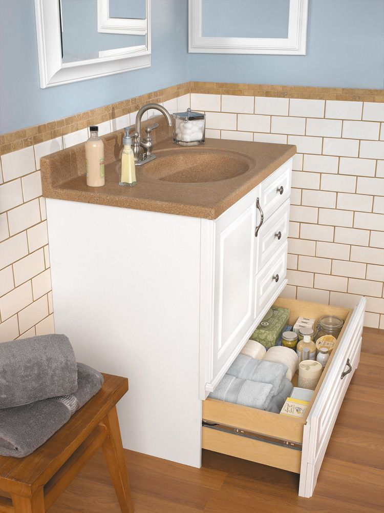 Danville White Bottom Drawer Vanity Available Widths 30