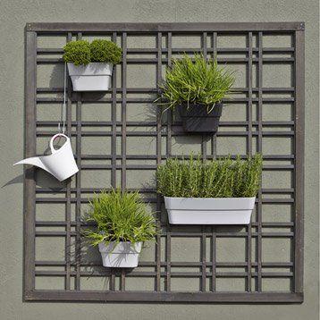 panneau treillis bois ajour selva cm x cm gris terrasse. Black Bedroom Furniture Sets. Home Design Ideas