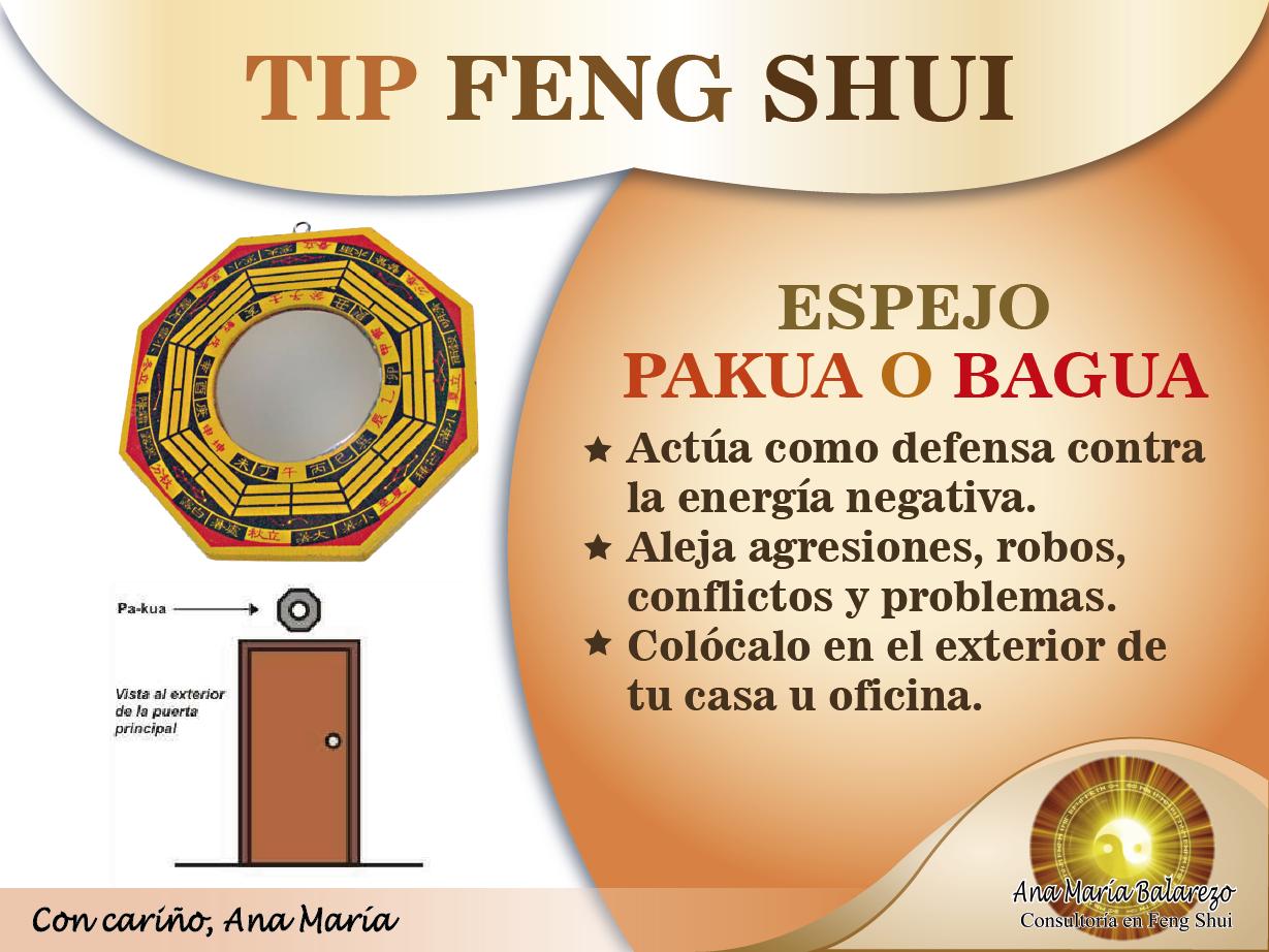 Espejo pakua excelente para alejar y actuar en contra de for El feng shui en casa
