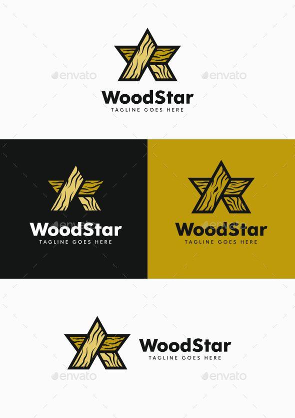 Wood Star Symbols Logo Templates Logo Design Pinterest