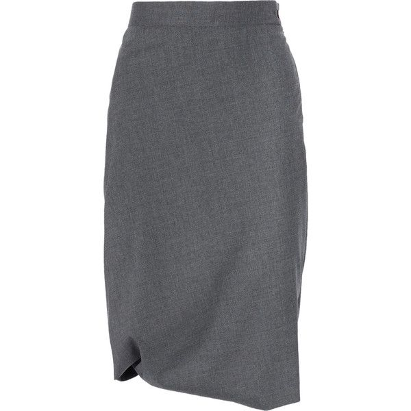 e2c46c52ef Vivienne Westwood Red Label Asymmetric wool-blend pencil skirt (104.300  HUF) ❤ liked