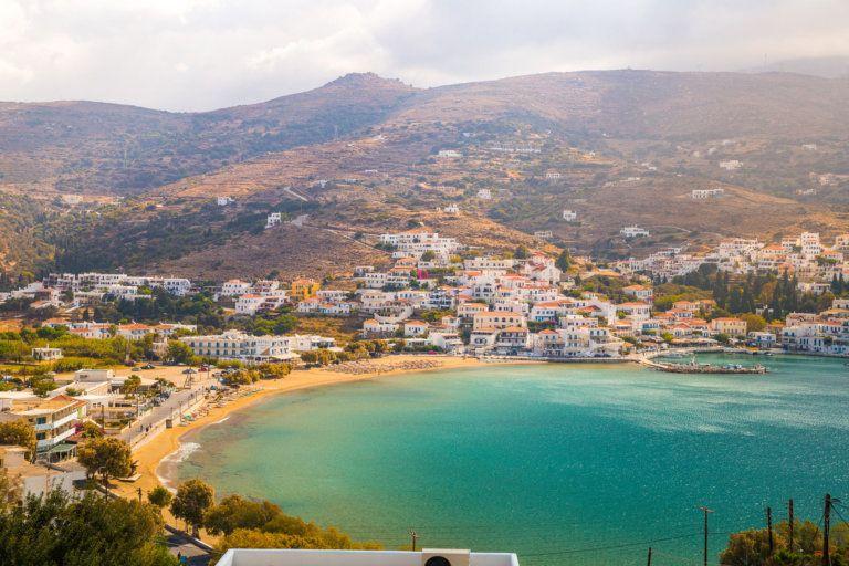 Agios Ioannis Beach, Andros Island Greece in 2020